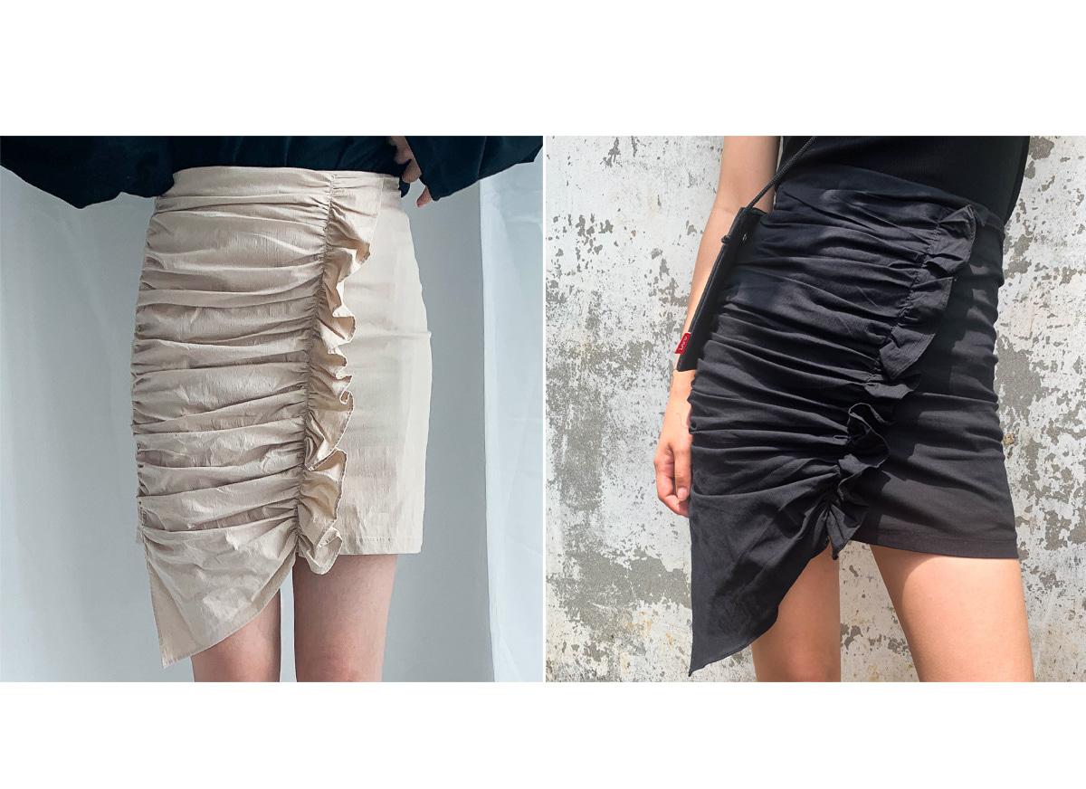 Shirring Musi Mini Skirt