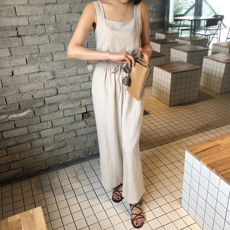 Linen Mary Jump Suit