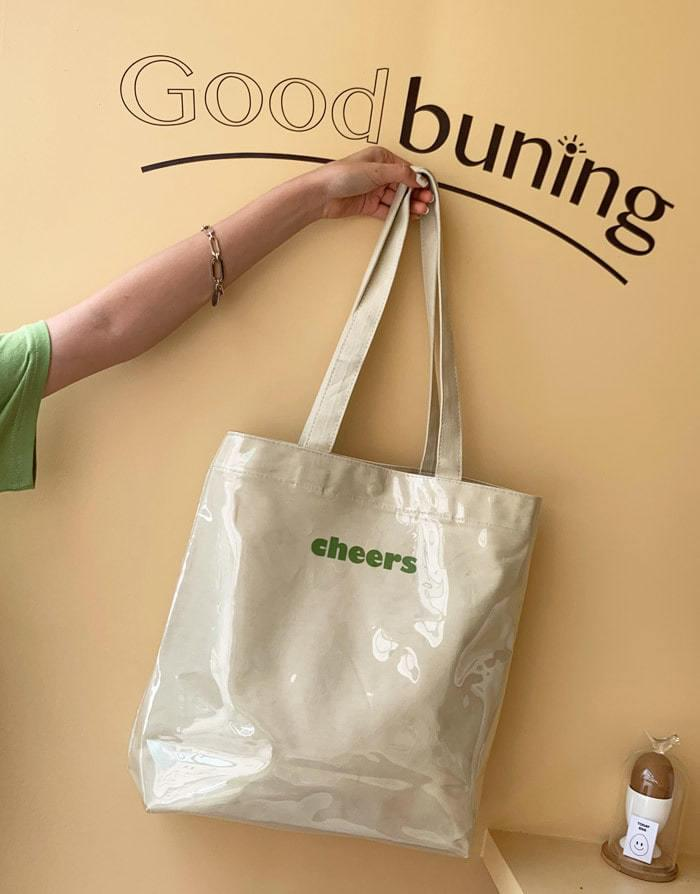 Cheers lettering PVC plastic bag