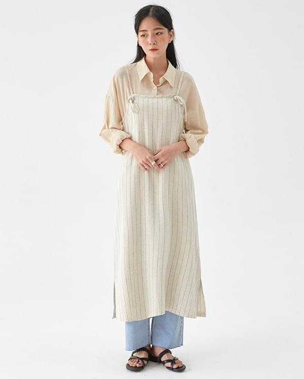 stripe strap cotton ops