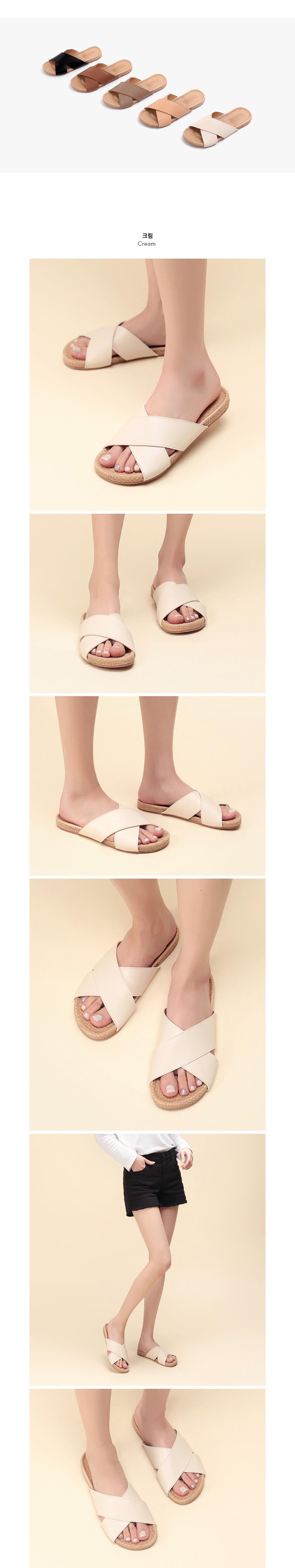 X-kinked sandals