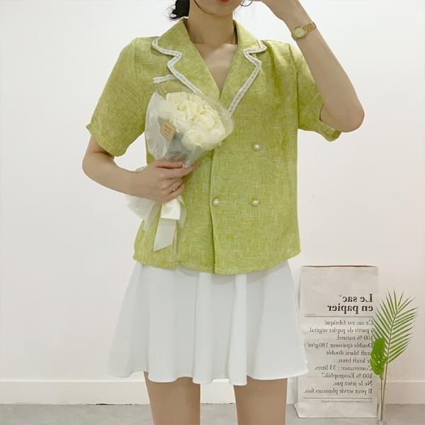 Kosha linen pearl jacket blouse