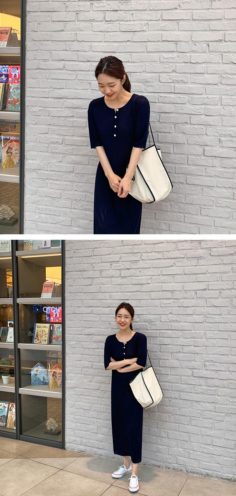Simple line shopper bag_K