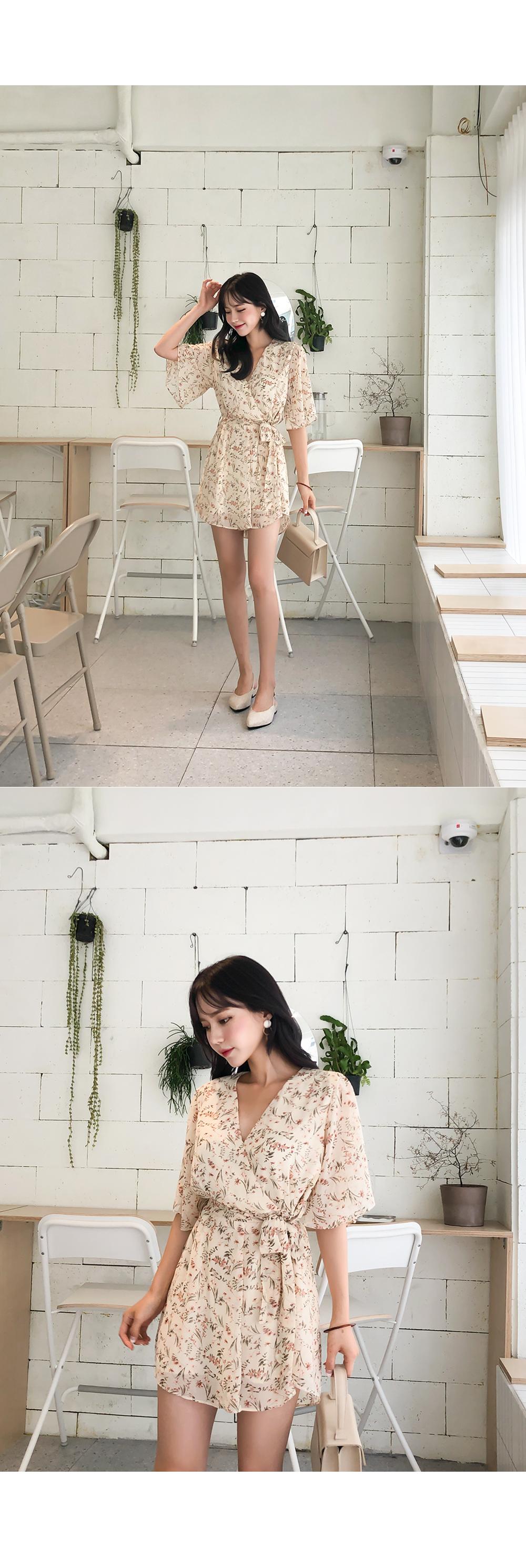 Flower Mini Jump Suit