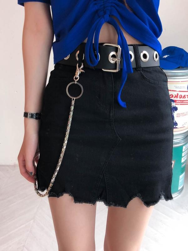 Wave-cut skirt pants