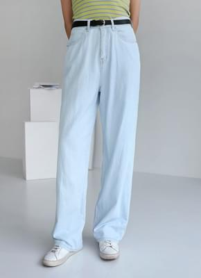 Ocean loose-fitting denim pants