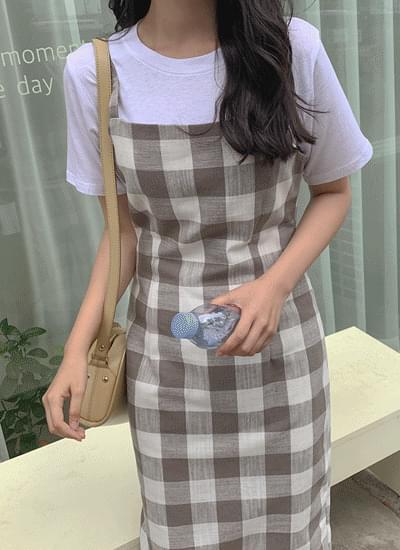 Miner Check nashi dress