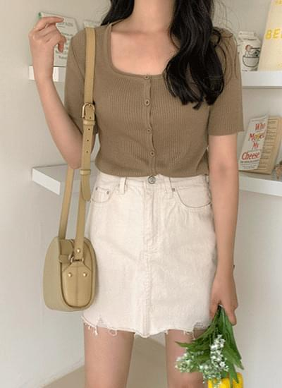 Mir Square Short-sleeved Cardigan