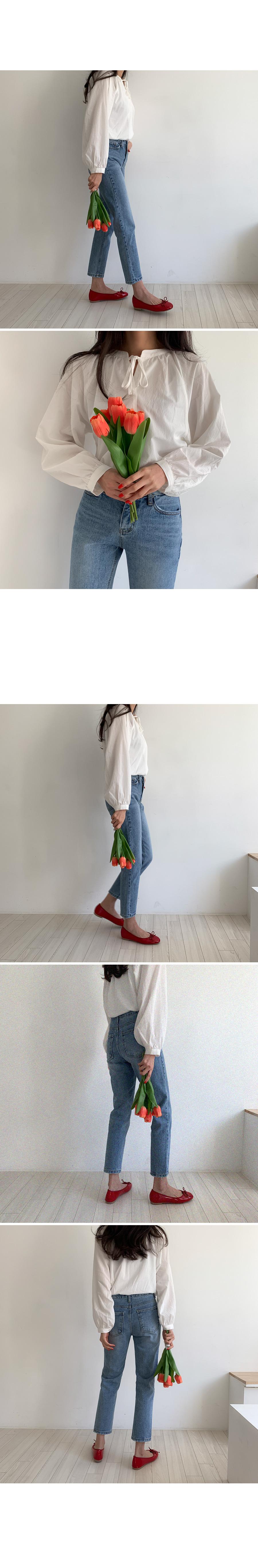 Lemon double-sided ribbon blouse