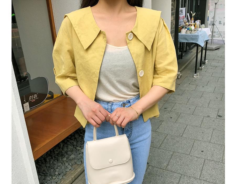Sailor puff linen blouse_A (size : free)
