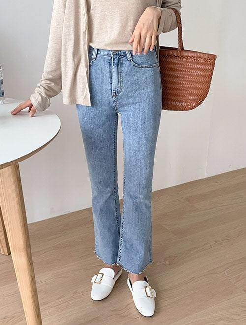 Casual boots cut denim pants _R