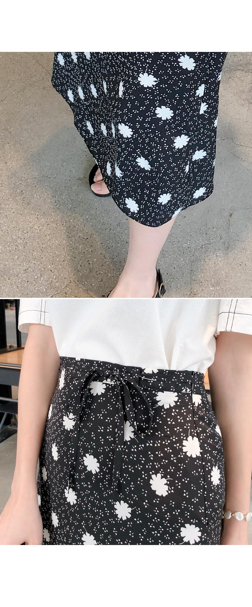 Calm mood flower skirt