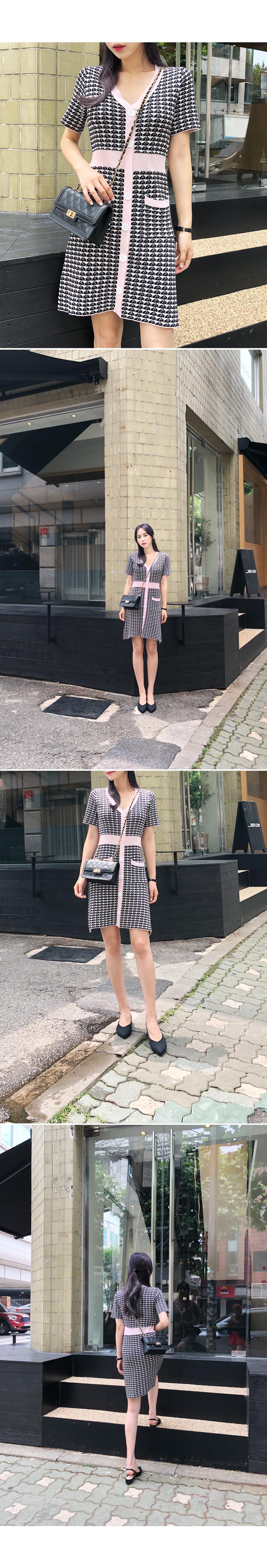 Unique knit dress
