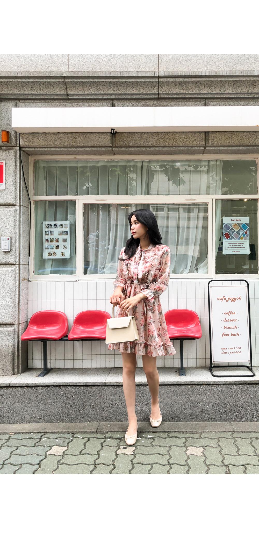 Feminine beauty filled flower dress