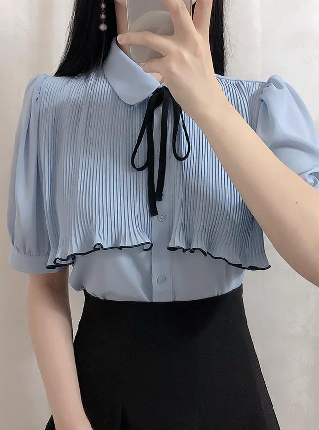 ♥ Sugar wrinkled ribbon blouse