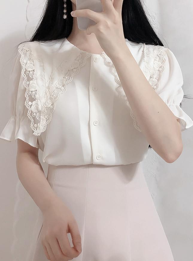 ♥ motive race color blouse