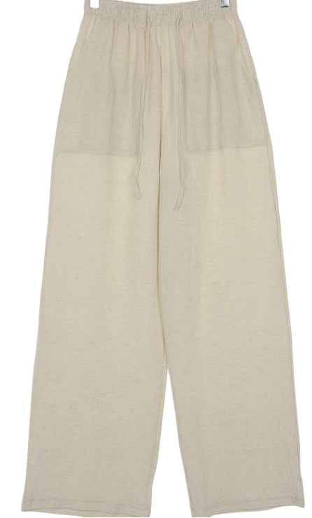 Wrinkle cotton pants