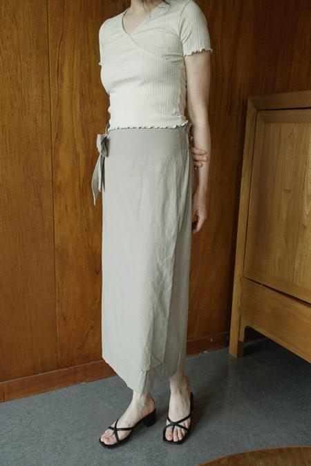 sensual wrap forming long skirts