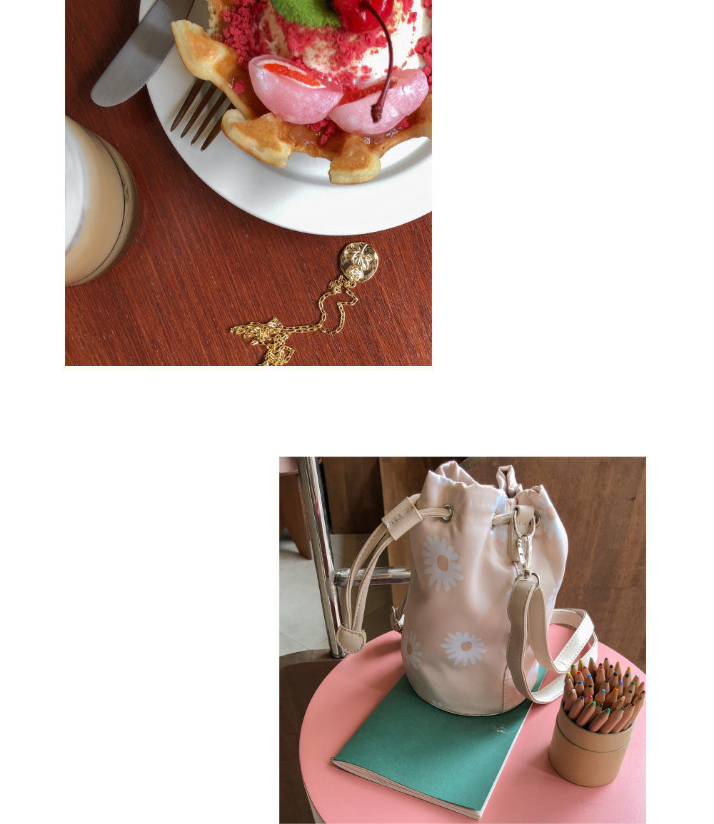 cylinder minimal flower bag