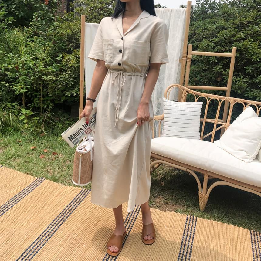 Pocket Cotton Long Dress