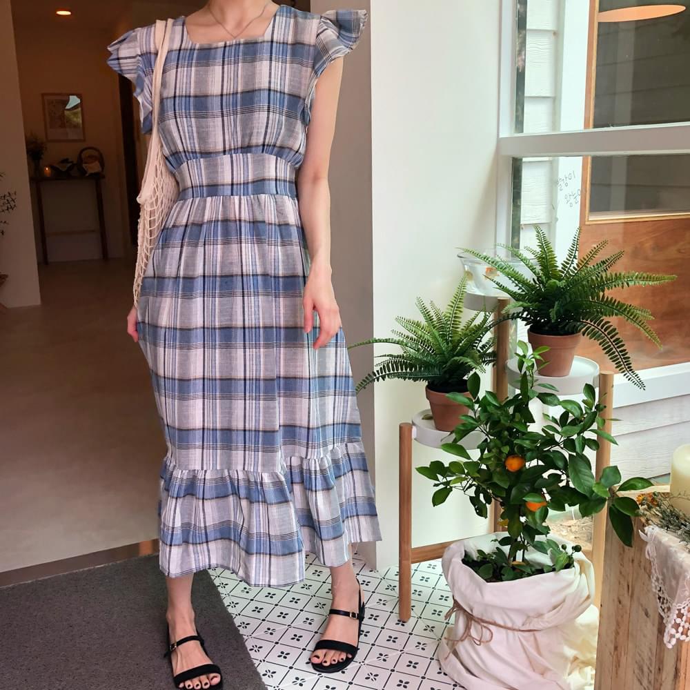 Blue Living Check Dress
