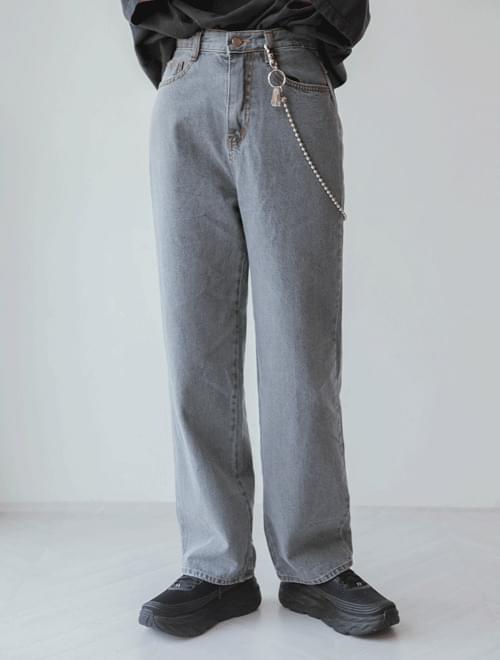 Thin denim pants