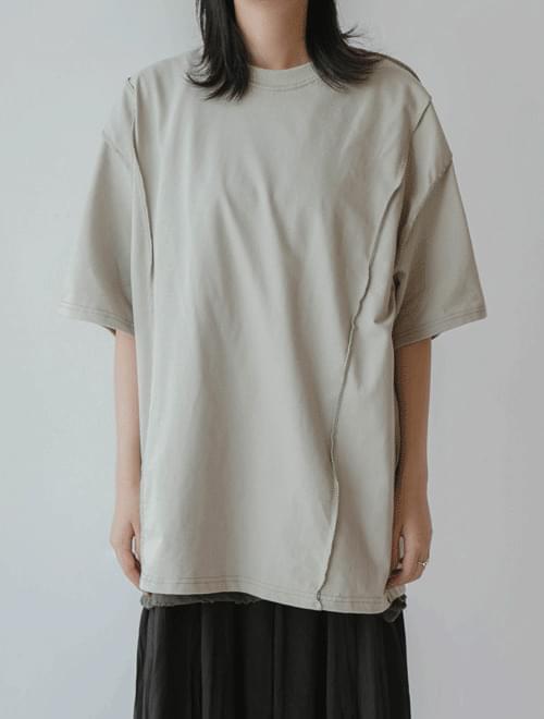 Make-up incision short-sleeved polo shirt