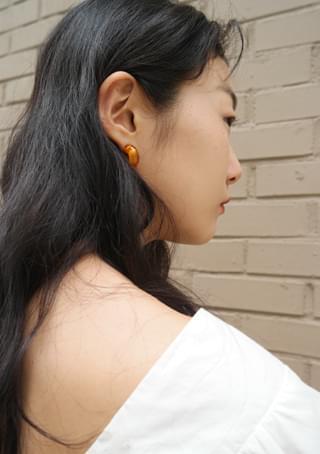 clear simple ring earrings