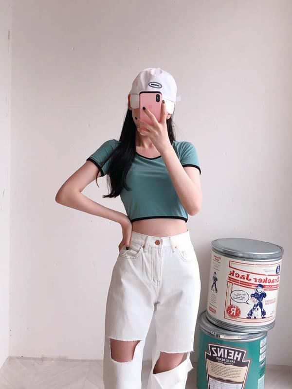 Cut Straight Pants