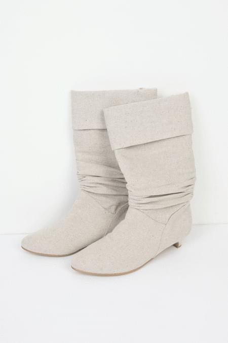 original hemp fabric crease boots (2colors)