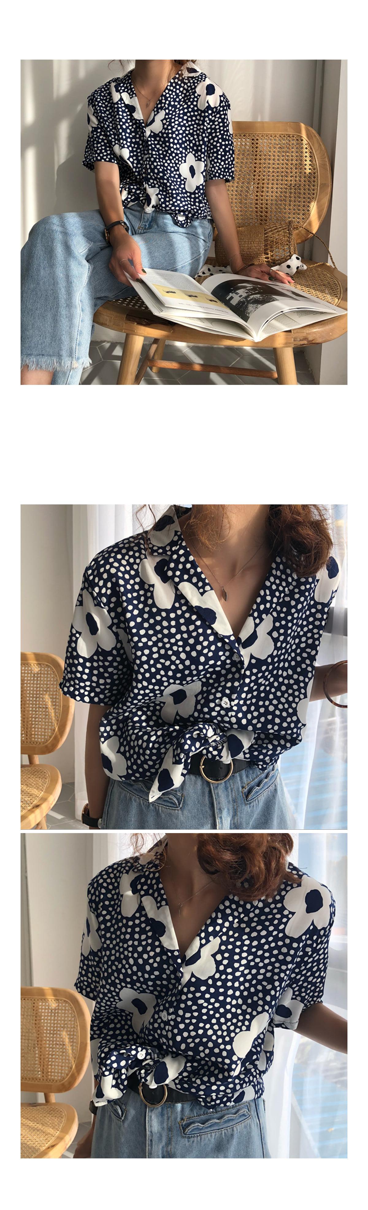 Moody Flower Shirt