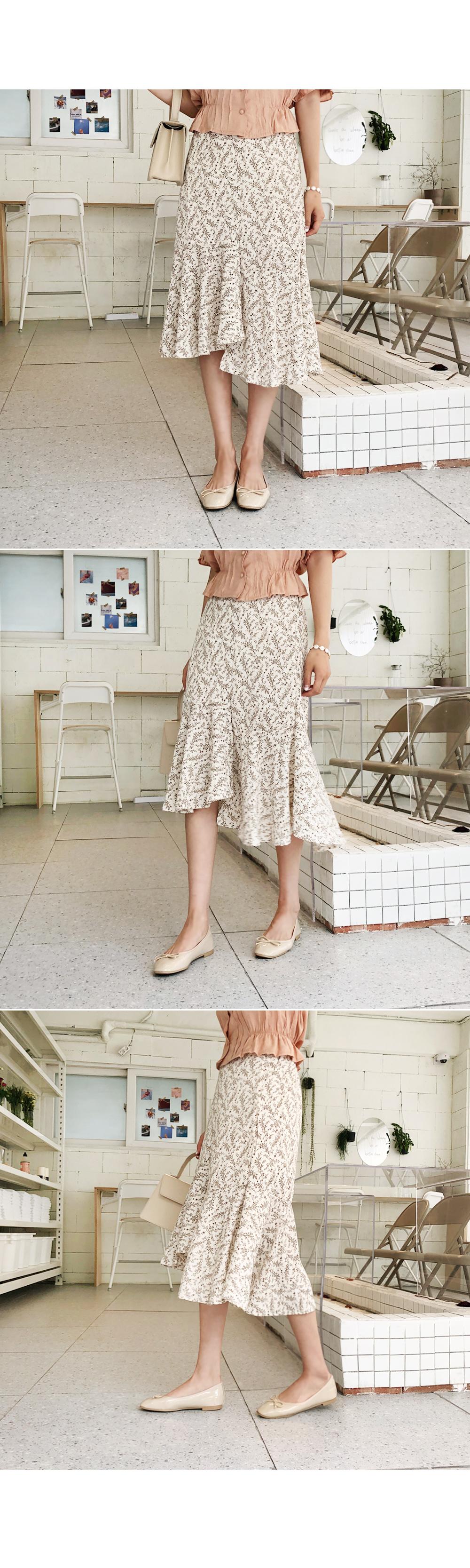 Sweet and sweet flower skirt