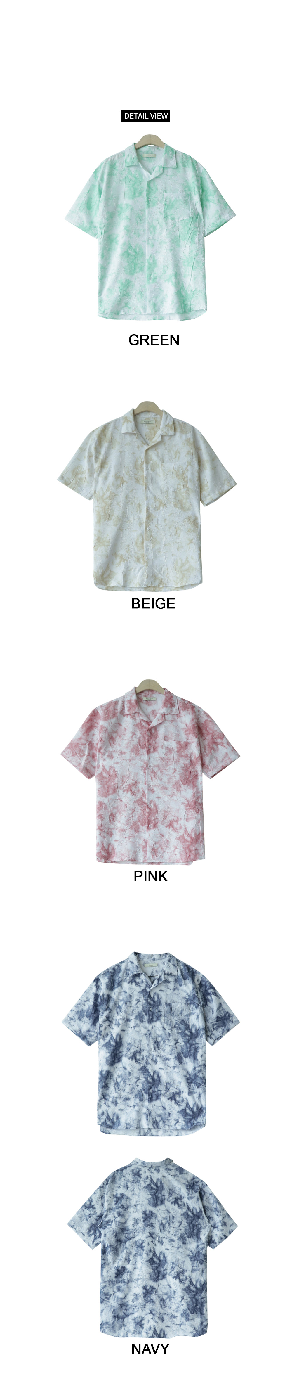 Pastel boxy short-sleeved shirt