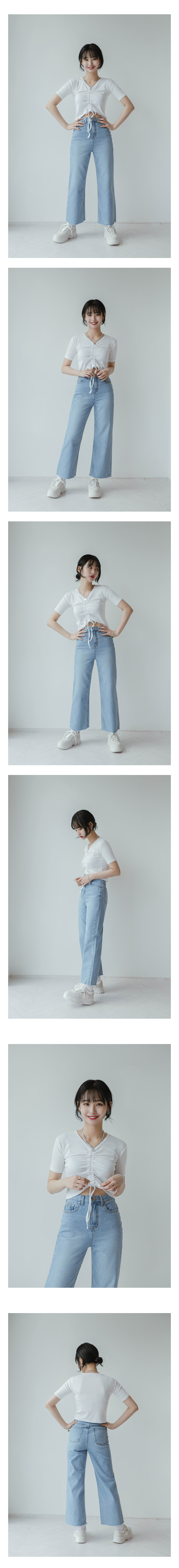 Loose-cut denim pants