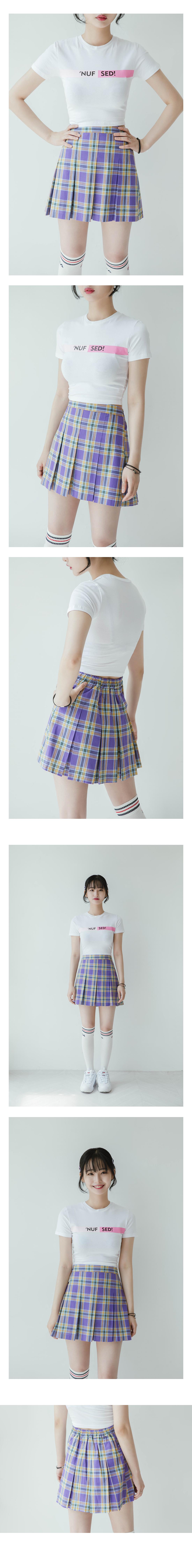 Pop Check Pleated Skirt