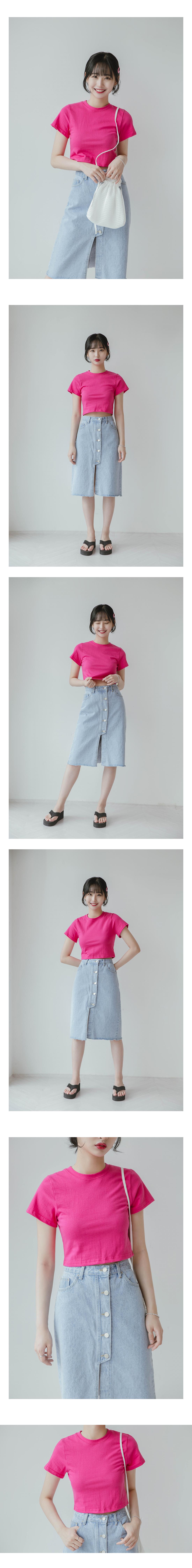 5 button denim skirt