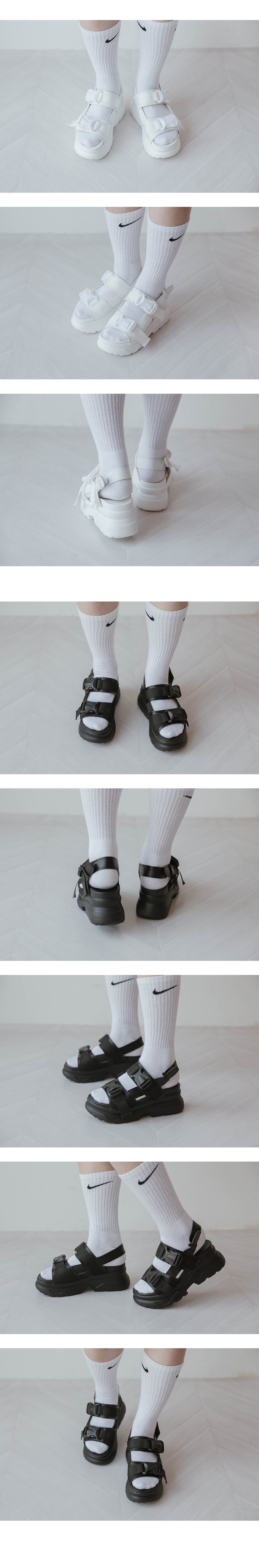 Two-buckle sandals