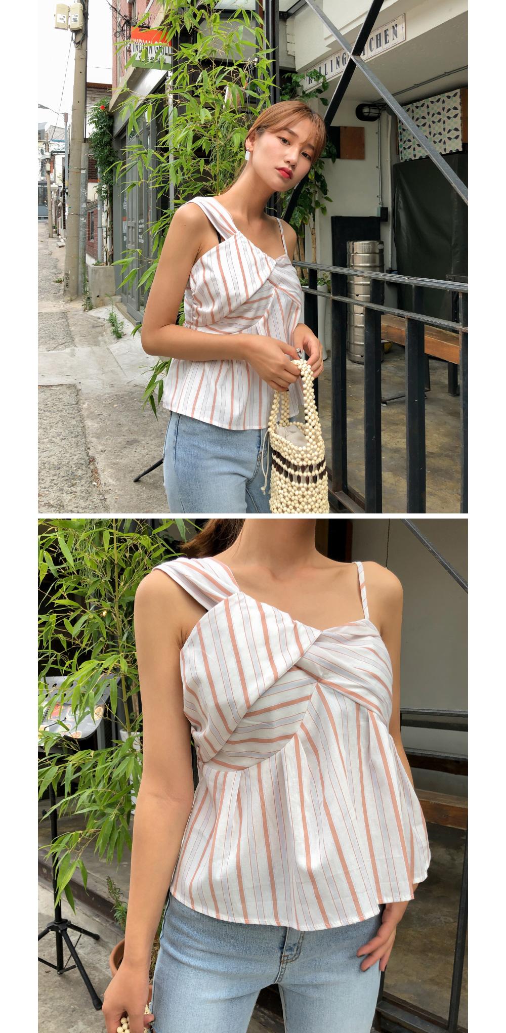 unique shoulder strap sleeveless