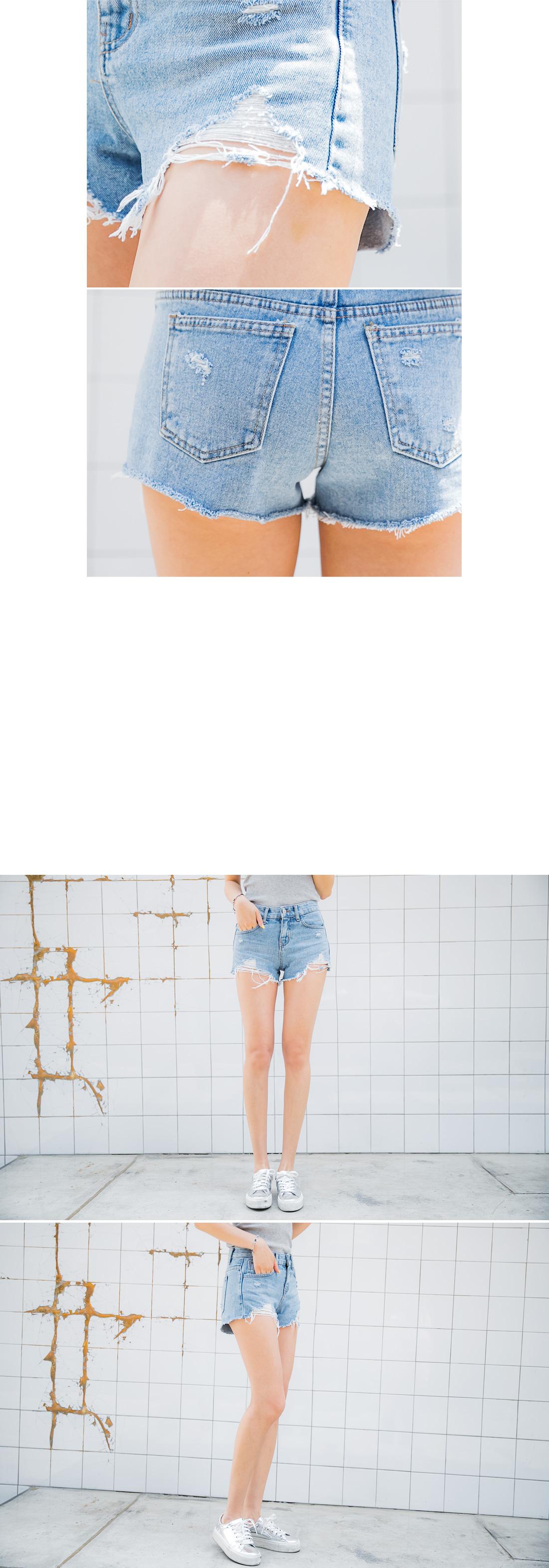 Coco Bone Denim Shorts