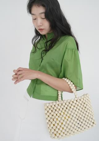 wood ball tote bag
