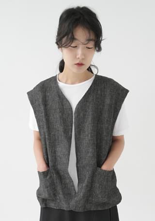 mix color oversize vest