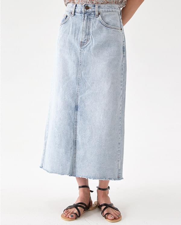 basic royal denim skirt (s, m, l)