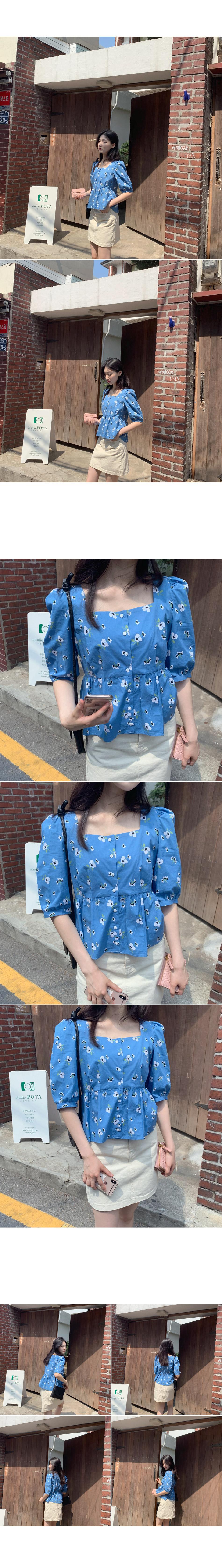 Jude floral blouse _Y