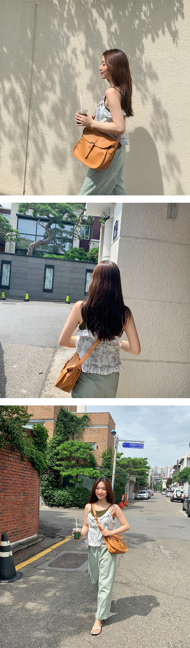 Spray frill sleeveless blouse_H