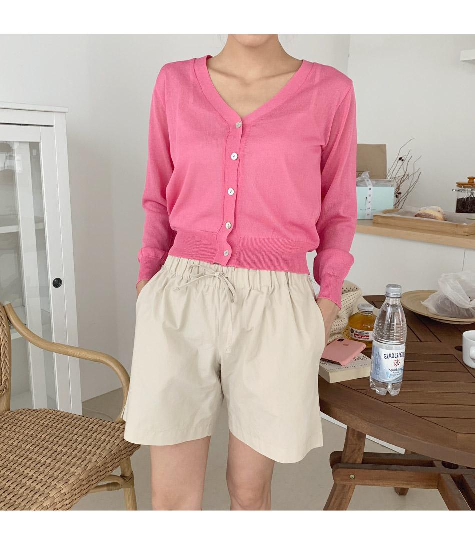 Cream Bending Short Pants _Y