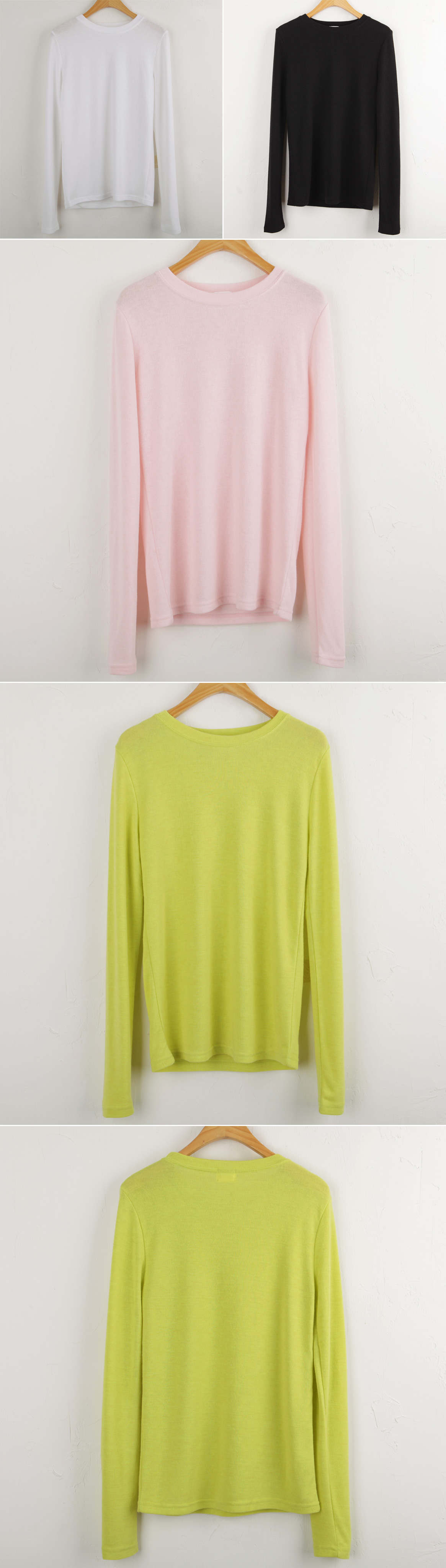 Luxurious tee touch wearing color spring