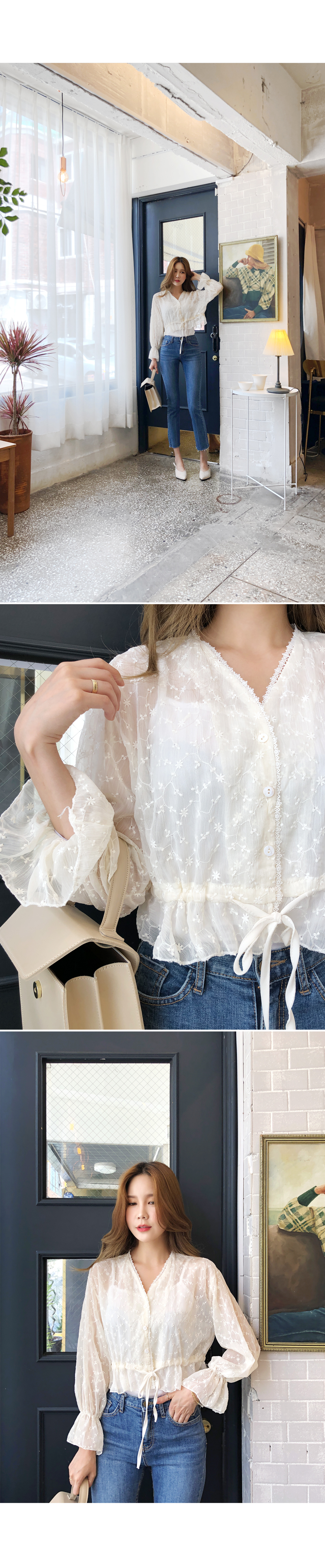 Blindness see-through blouse