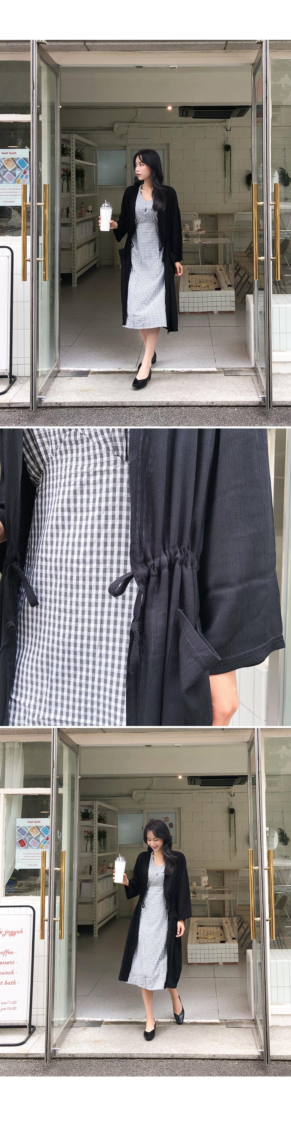 String Point Long Robe