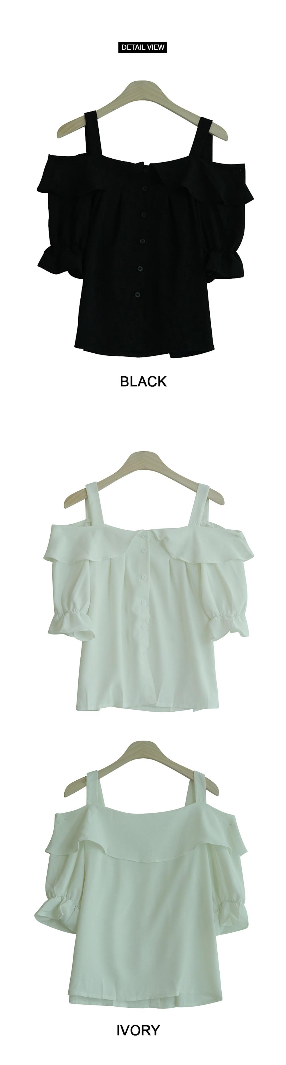 Frill off shoulder blouse
