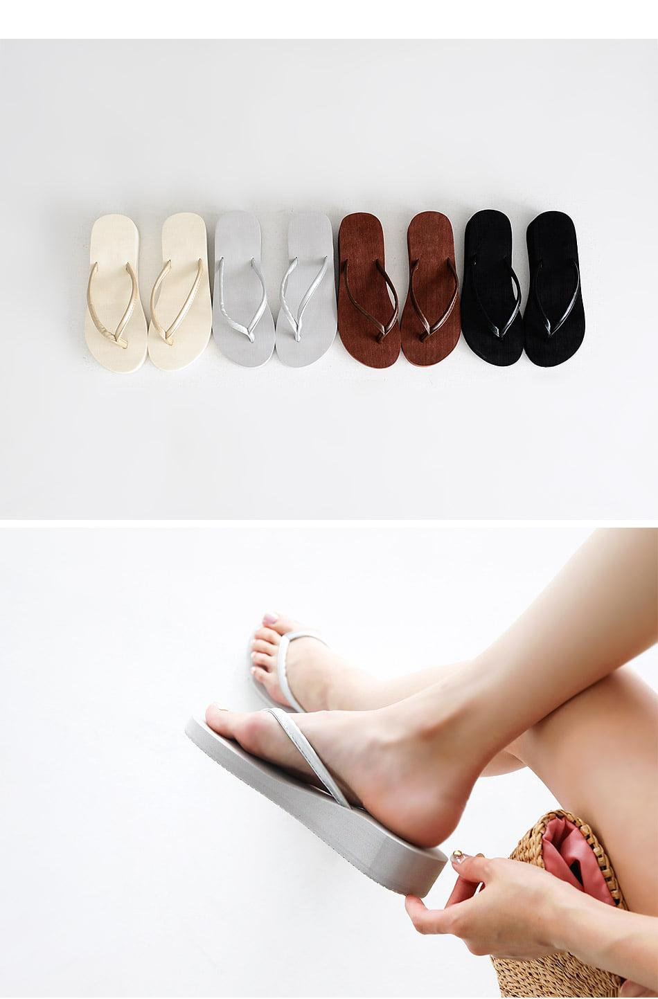 Rieden Wedge Slippers 3cm